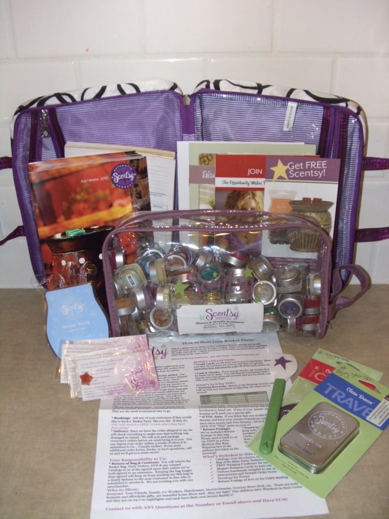 Scentsy Basket Party Bag Contents