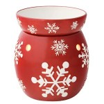 Scentsy Red Snowflake Full-Size Warmer