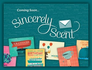 Sincerely Scent Greeting Cards