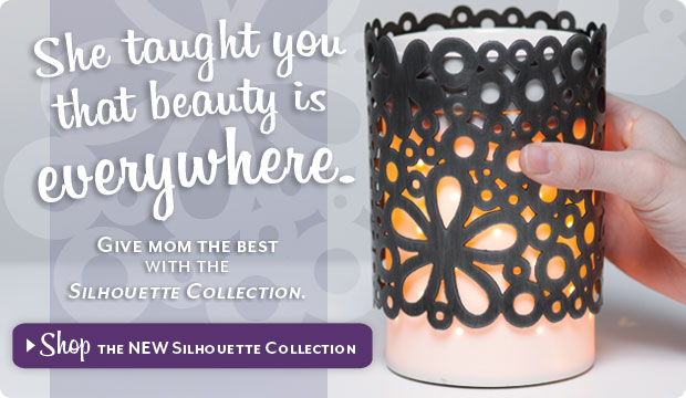 Scentsy Silhouette Warmer and Wraps Collection