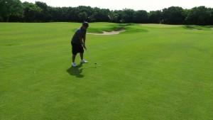 Shawn Robinson Golfing