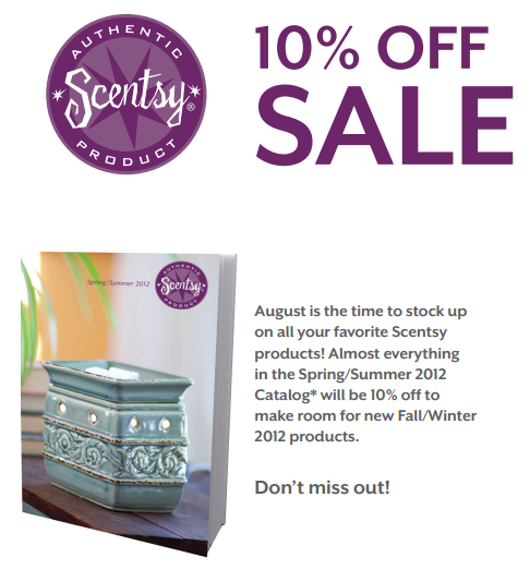 Save with Scentsy in August Banner