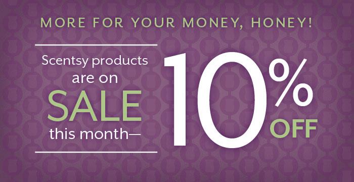 10 percent off Scentsy Sale