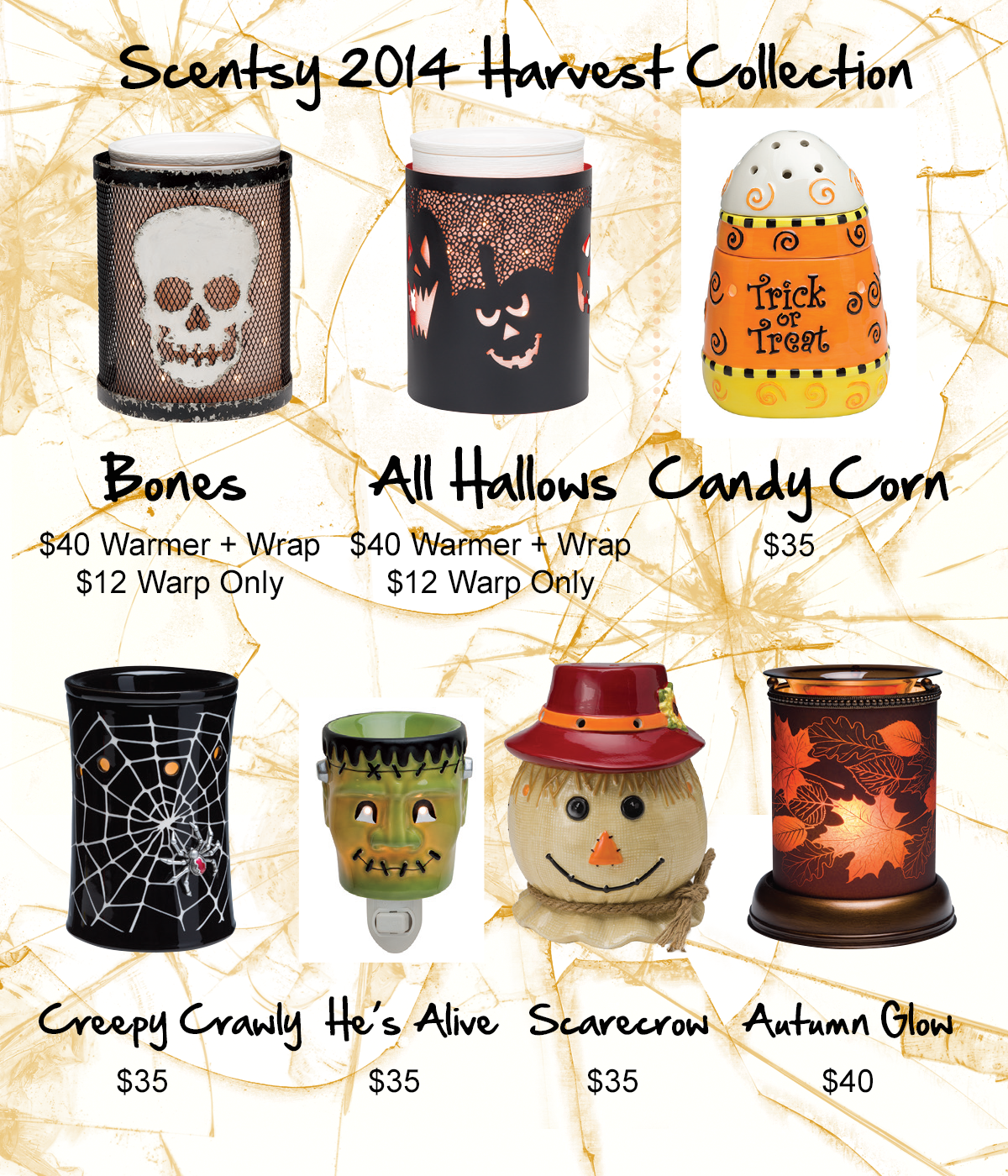 Ssentsy Halloween and Harvest Warmers