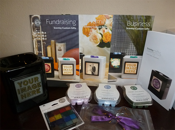 Scentsy Custom Gifts are unique to you and can be personalized for your Business, Fundraiser or Family Event.