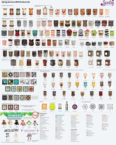 2014 Scentsy Product Flyer