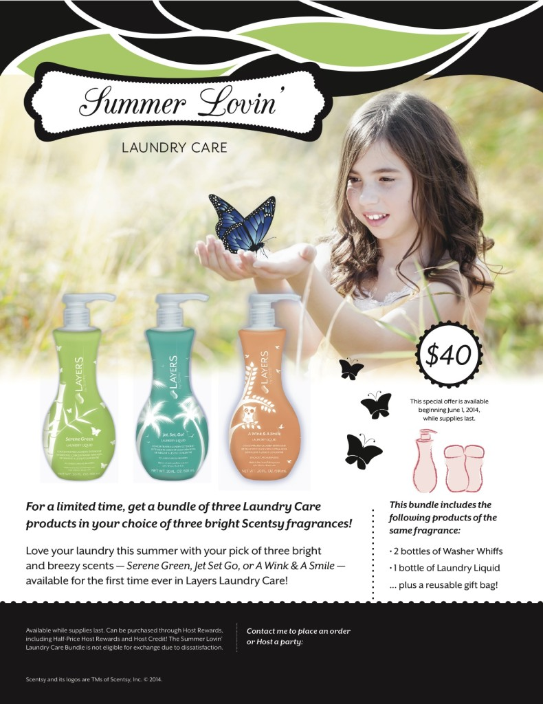 Scentsy Laundry Care Special