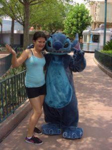 Disney World Family Trip Stitch posing