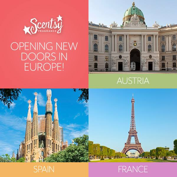 Scentsy Expansion in Spain, France &  Austria