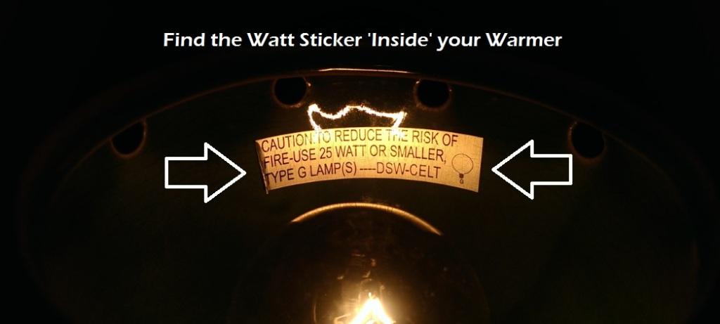 Scentsy Light Bulb Watt Sticker