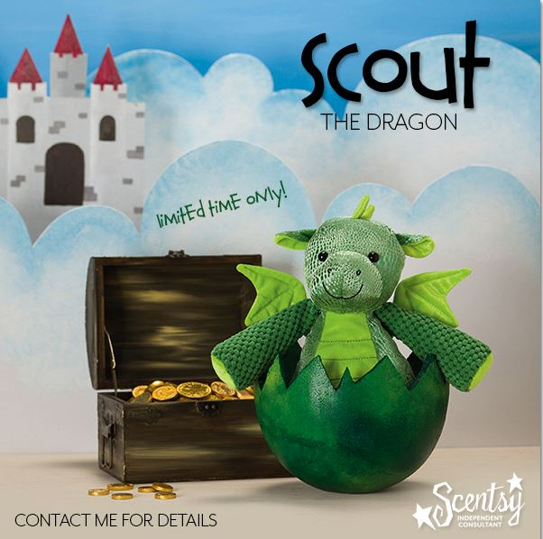 Limited Edition Dragon and Unicorn Scentsy Buddy's