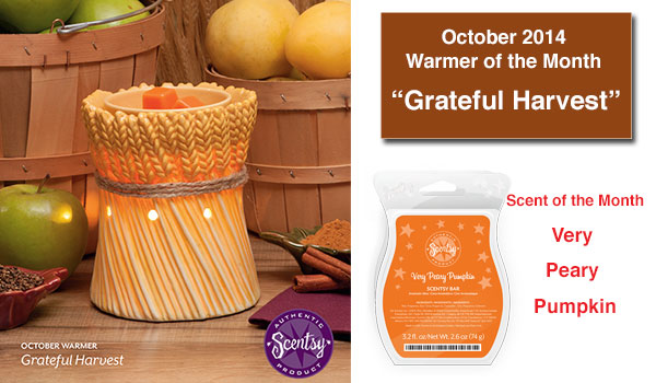 Grateful Harvest Scentsy Warmer of the Month October 2014