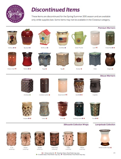 2015 Discontinued Scentsy Products