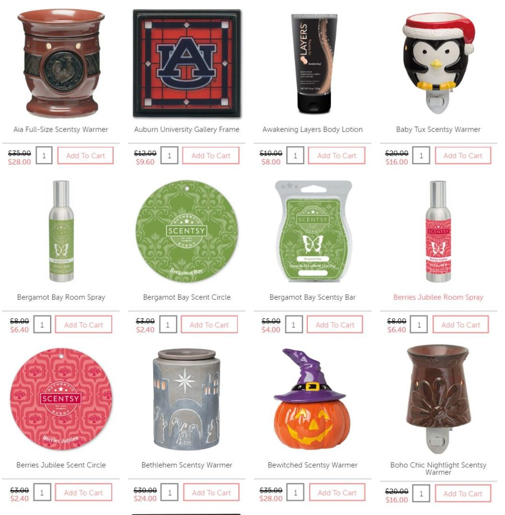 Scentsy Clearance 2016