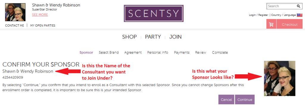 Confirm your Sponsor