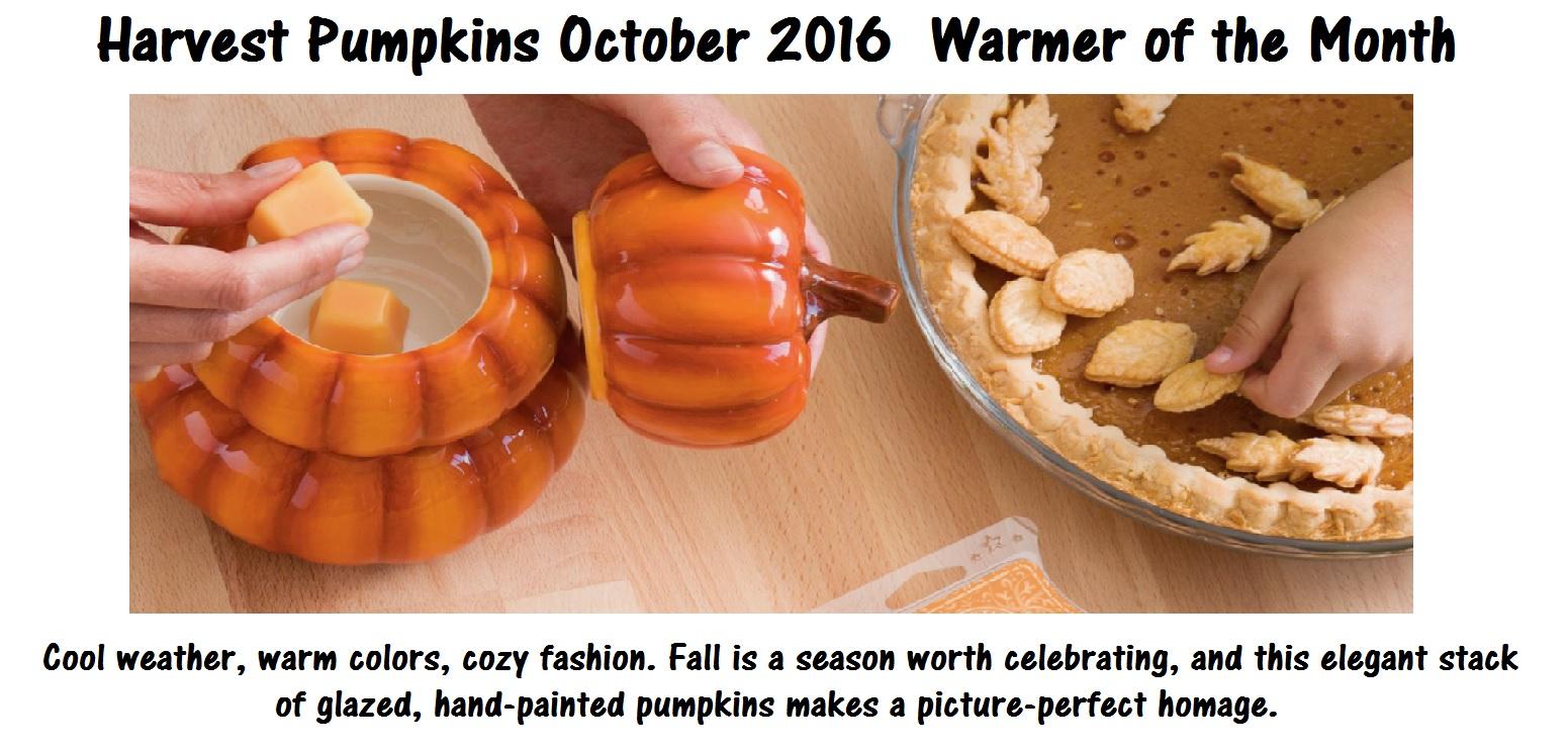 Scentsy October 2016 Warmer of the Month Harvest Pumpkins