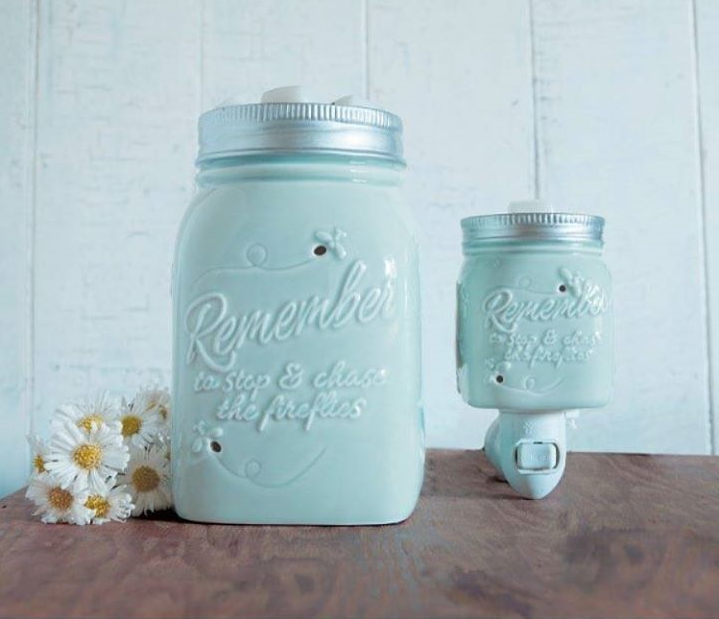 Chasing Fireflies Painted Jar Scentsy Warmers
