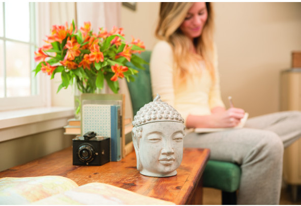 Awaken with tranquility and discover peace with the Gautama-Buddha Warmer; transform your space into a serene meditation garden with this Balinese Buddha with an aged, weathered look.