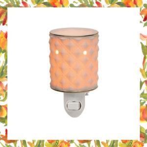 Diamond Milk Glass Nightlight Warmer