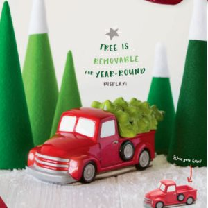Special Deliver Retro Red Truck Scentsy Warmer with Christmas Tree