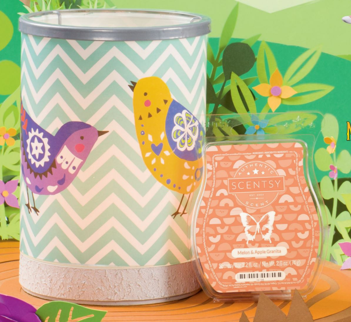 Chevrons and Congbirds Scentsy February Warmer 2017