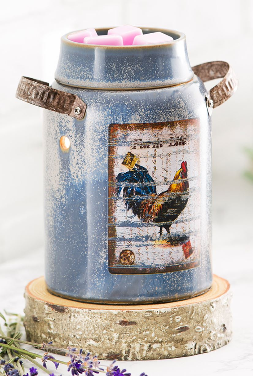 vintage crock scentsy candle warmer scentsy farm life rooster warmer