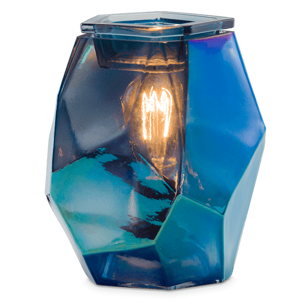crystal ice scentsy warmer scentsy blue glass candle warmer